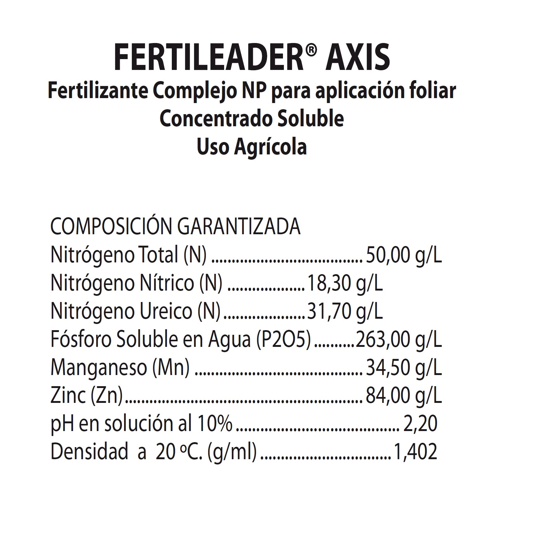 FERTILEADER AXIS X 1 Lt