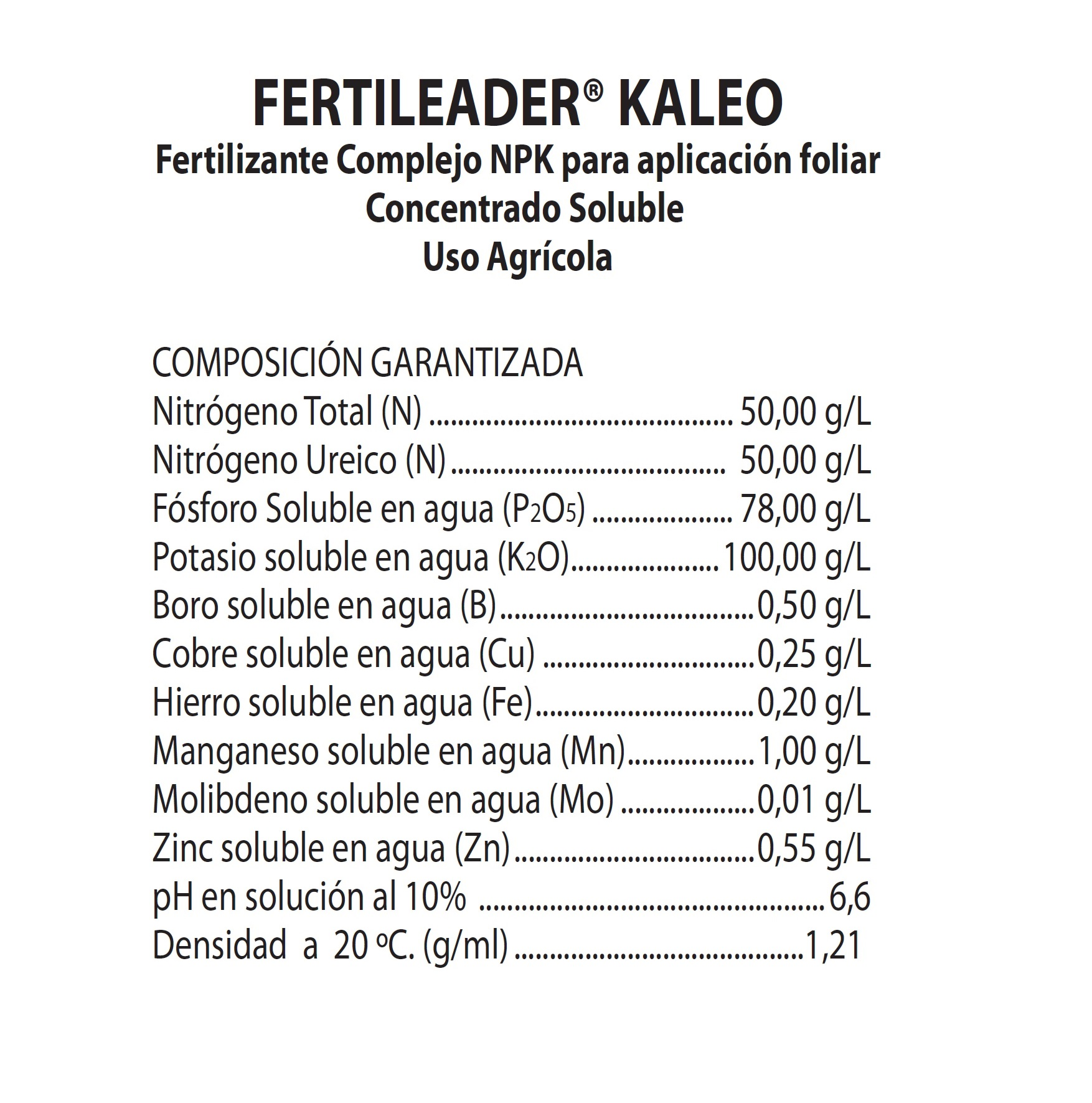 FERTILEADER KALEO X 1 Lt