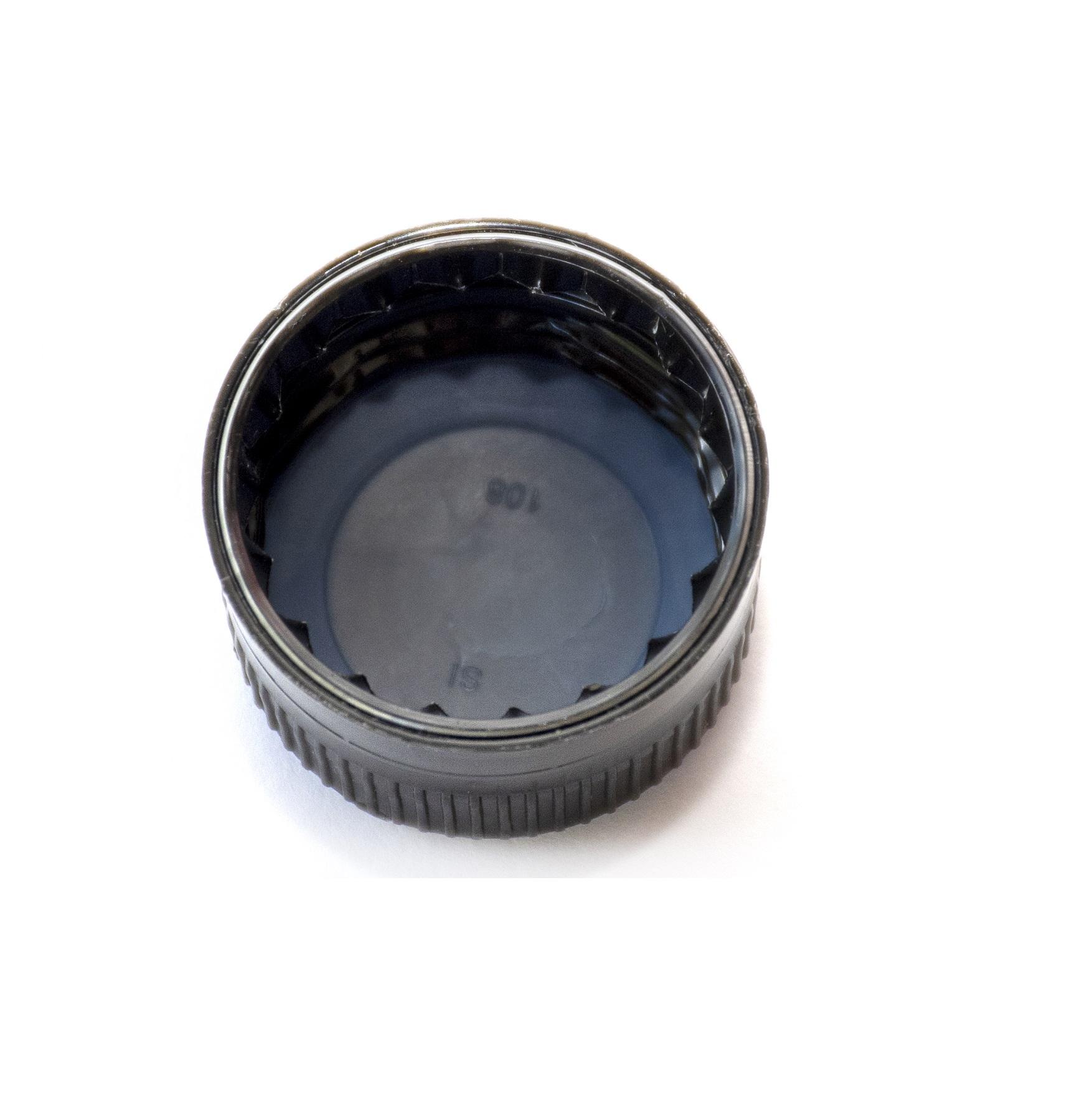 TAPA PLÁSTICA 28 mm ROSCA NEGRA